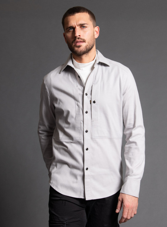 211-D18173-B821 PANNELLED POCKET SLIM SHIRT